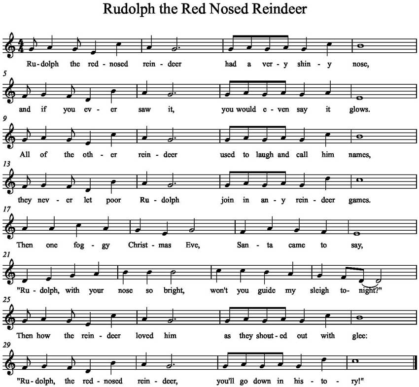 William Holsinger - The Origin of the Song Rudolph the Rednosed Reindeer - Music Sheet