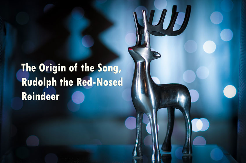 William Holsinger - The Origin of the Song Rudolph the Rednosed Reindeer - A reindeer display and text.