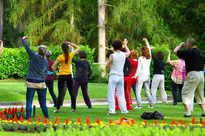 William Holsinger - Styles of Meditation - Movement Meditation - A group of people dancing